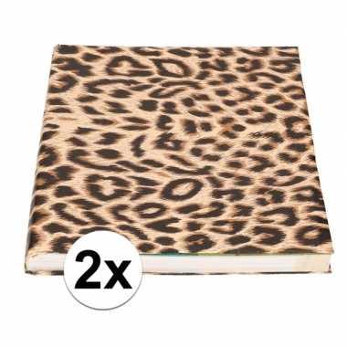 2x kaftpapier tijgerprint/tijgerprint 400 cm