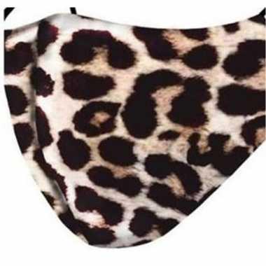 3x beschermende mondkapjes met tijger print herbruikbaar