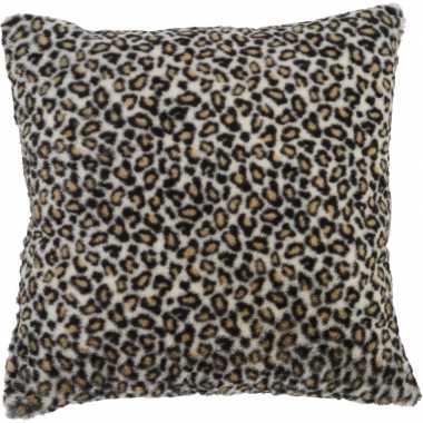 Decoratie kussen dierenprint tijger 45 x 45 cm nel tijgervel