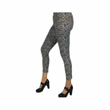 Grijze tijgerprint legging voor dames