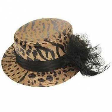 Luxe hoed met tijger print