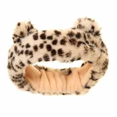Pluche hoofdband met tijgerprint voor meiden