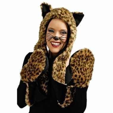 Pluche tijger verkleed set