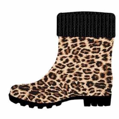 Regenlaarzen met tijgerprint voor dames | Tijgerprint kleding.nl