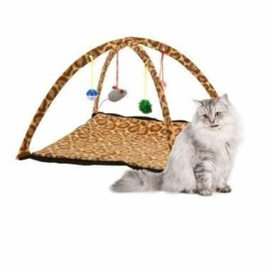 Speelkleed voor katten/kittens tijgerprint 55 cm