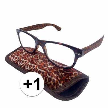 Voordelige tijger leesbril +1
