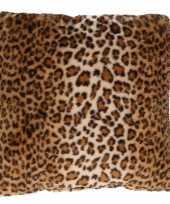 1x decoratie kussens dierenprint tijger 45 x 45 cm