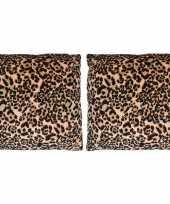 2x sierkussentjes met tijger print 45 cm 10148938