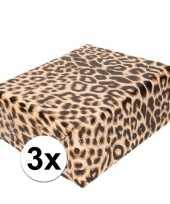 3x cadeaupapier tijgerprint tijgerprint 200 cm