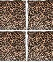 4x sierkussentjes met tijger print 45 cm 10148939