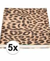 5x kaftpapier tijgerprint tijgerprint 1000 cm