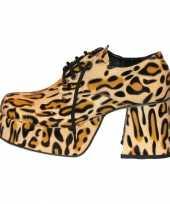 Disco tijgerprint heren schoenen