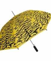 Geel zwarte tijger opdruk paraplu 80 cm