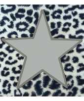 Kerstservetten met tijgerprint en zilveren ster 100 stuks 33 x 33 cm