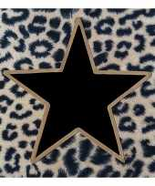 Kerstservetten met tijgerprint en zwart gouden ster 100 stuks 33 x 33 cm