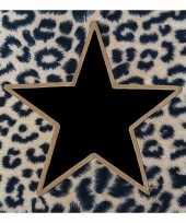 Kerstservetten met tijgerprint en zwart gouden ster 60 stuks 33 x 33 cm