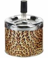 Metalen asbak tijger 12 cm