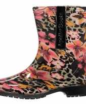 Tijger bloemen motief regenlaarzen voor dames maat 37