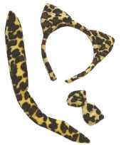 Tijger oren staart en strikje