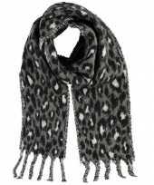 Tijger tijger sjaal shawl grijs wit voor meisjes