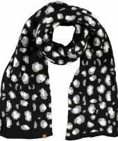 Tijger tijger sjaal shawl zwart wit grijs voor meisjes