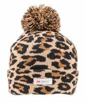 Tijgerprint tijgerprint muts bruin zwart voor dames vrouwen