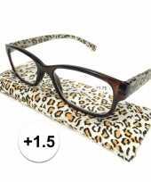 Voordelige tijgerprint leesbril 1 5