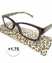 Voordelige tijgerprint leesbril 1 75