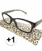 Voordelige tijgerprint leesbril 1