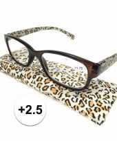 Voordelige tijgerprint leesbril 2 5