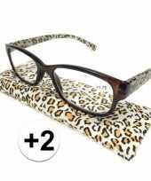 Voordelige tijgerprint leesbril 2
