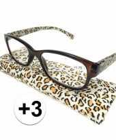 Voordelige tijgerprint leesbril 3