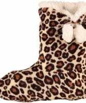 Warme dieren slofjes pantoffeltjes tijgerprint tijgerprint voor dames 10064416