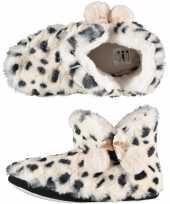 Warme dieren slofjes pantoffeltjes tijgerprint tijgerprint voor dames